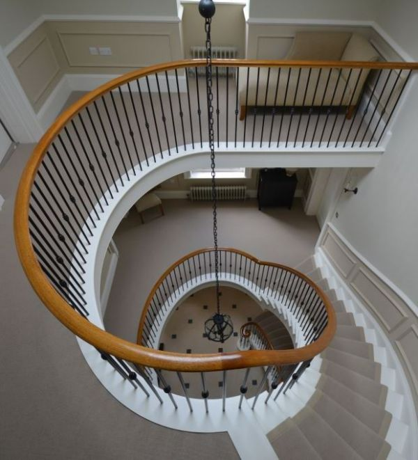 Staircase joinery design and make bespoke helical and for Georgian staircase design